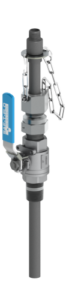 SAFTFLO EB-132 series retractable injection quill in stainless steel valve variant.
