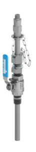 EB-146 series retractable injection quill with integrated check valve in stainless steel valve variant.