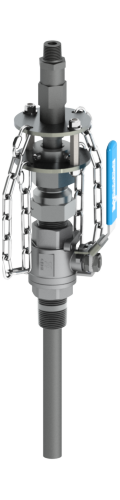 SAF-T-FLO EB-155 series heavy service retractable injection quill with integrated check valve.