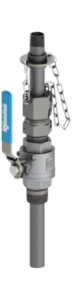 SAF-T-FLO EB-159 series standard service retractable injection quill in stainless steel ball valve variant.