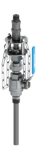 SAF-T-FLO EB-168 series heavy service retractable injection quill with integrated check valve.
